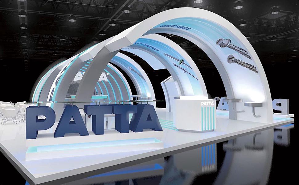 PATTA booth design for the 2018 Taiwan International Fastener Show in Kaohsiung
